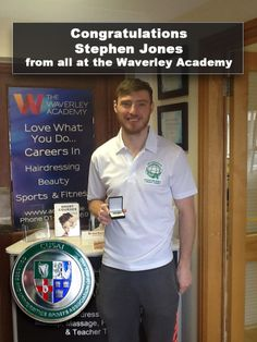 Congratulations to personal trainer   gym instructor student Stephen Jones  who won his college and universities 36bece94e