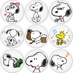 "SNOOPY 1.75"" Badges Pinbacks, Mirror, Magnet, Bottle Opener Keychain http://www.amazon.com/gp/product/B00C30D3NQ"