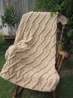 Afghánský deka pletená Dítě Zvlnění Pink by LuvableKnits na Etsy