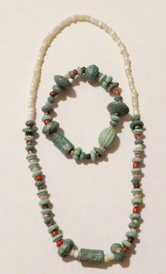 Set  Necklace and Bracelet  Earth1 by Sydric on Etsy, $12.00