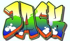 Kids Bedroom wall art Sticker Graffiti Name of your choice and colours