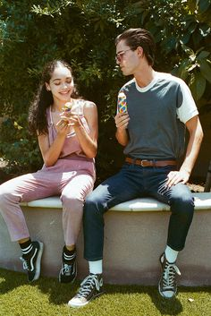 Camp Delivers On Some Serious Youthful Energy In This Collection Couple Aesthetic, Retro Aesthetic, The Love Club, Young Love, Pose Reference, Film Photography, Couple Goals, Cute Couples, Photoshoot