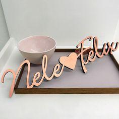 NOGALLERY 3D Schrift Hochzeit Geschenk Holz