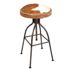 Elegant Cowhide Counter Bar Stools