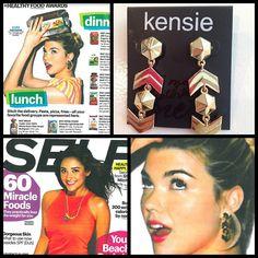 Kensie earrings in the June 2013 issue of Self Magazine