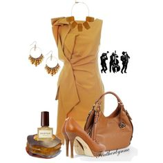 Butterscotch Jazz by featherlynne on Polyvore featuring polyvore, fashion, style, MICHAEL Michael Kors, Caipora Jewellery, Octavia, STELLA McCARTNEY and Karen Millen