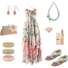 How gorgeous would this outfit be for a summer wedding outfit!?!