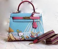 Hermes Snoopy Limited Edition Kelly 25 cm Epsom by Bella Vita Moda Personalization For sale at http://www.bellavitamoda.com   #hermes #hermesbirkin #hermeskelly #hermesbag #hermesbuyer #baglover #bagaddict #onlineshopping #fashionistas #hermelimitededition