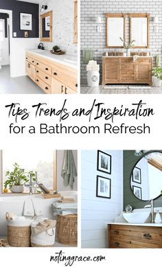 I'm excited to share my most recent chat with Wayfair and bring you some tips, trends and inspiration for a bathroom refresh. White Cafe, Cafe Curtains, Home Projects, Small Bathroom, Farmhouse Bathrooms, Trends, Tips, Inspiration, Small Shower Room