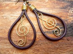 Leather & Music earrings