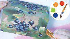 DIY Blackcurrant, How to paint berries, Cómo pintar las bayas, irishkalia