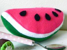 Watermeloen van vilt