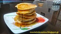 Μάχη στην κουζίνα: Pancakes Τηγανίτες Με Μέλι Pancakes, Breakfast, Food, Morning Coffee, Essen, Pancake, Meals, Yemek, Eten