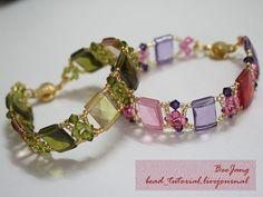 Tutorial : Crystal Bracelet #18  Level : Beginner