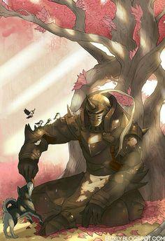 Alphonse Elric, animals, cute, tree; Fullmetal Alchemist