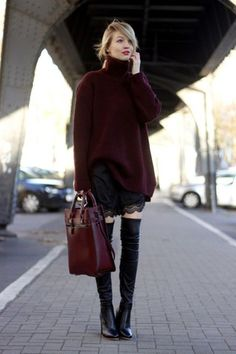 All Things Lovely In This Fall / Winter Outfit. Definitely Must Have One. - Street Fashion, Casual Style, Latest Fashion Trends - Street Style and Casual Fashion Trends Estilo Fashion, Fashion Mode, Fashion Outfits, Fashion Trends, Fashion Clothes, Fashion Jewelry, Street Style Trends, Street Styles, Oversize Fashion
