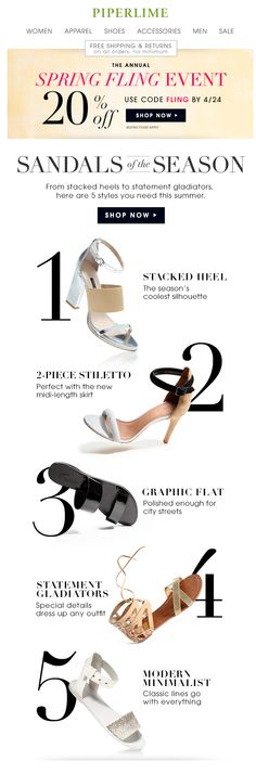 Look! 5 sandal must-haves + 20% off your purchase | Awesome Screenshot