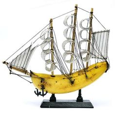 Banana Boats - Jacob Dahlstrup Creates Vessels Out of Real Fruit