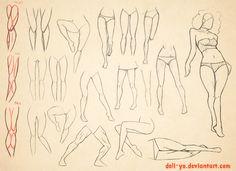 Sketch Dump - Leg anatomy study by deli-Yu on deviantART