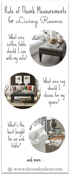 Must-have tips for choosing end tables, coffee tables and rugs