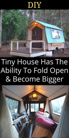 """This adorable house on wheels may look like your average tiny home build, but it's actually hiding an """"unflappable"""" secret. Diy Living Room Decor, Diy Bedroom Decor, Hacks Diy, Home Hacks, Narrow House Plans, Diy Barbie Clothes, Diy Crafts For Home Decor, House On Wheels, Work From Home Jobs"""