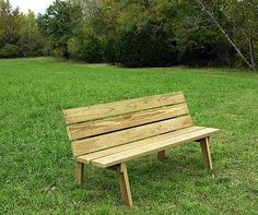 how to make a wooden bench with back