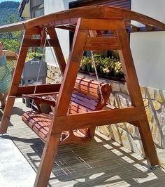 Diy Swing, Bench Swing, Pergola Swing, Outside Furniture, Diy Outdoor Furniture, Garden Furniture, Furniture Design, Backyard Patio Designs, Backyard Projects