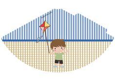 Personalizados Pipa menino – Kit festa para imprimir – Inspire sua Festa ®