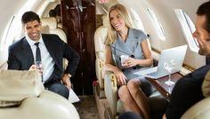 Aboard Private Jet