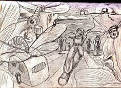 sketch for U.V. 12 x 9ft Banner (1991)  Rave Scene   https://www.facebook.com/humbleart.co.uk/