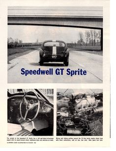 1960 SPEEDWELL GT SPRITE ~ NICE ORIGINAL 3-PAGE ROAD TEST / ARTICLE / AD |