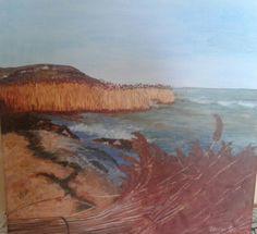 Nádvágás a Balatonon Akril 40 x 40 cm