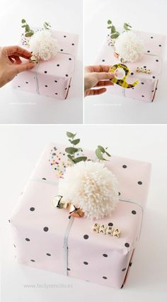 ▷ 80 Ideen wie Sie Geschenke schön verpacken mit Anleitung 80 ideas how to pack gifts beautifully with guidance. Present Wrapping, Creative Gift Wrapping, Creative Gifts, Baby Gift Wrapping, Wrapping Papers, Creative Gift Packaging, Good Birthday Presents, Birthday Gifts, Diy Birthday