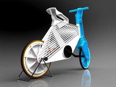 A bicicleta Frii é toda feita de plástico reciclado