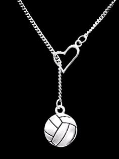 Details about Volleyball Necklace Heart Sports Gift Mom Mother Daughter Lariat - Sport EUT Volleyball Accessories, Volleyball Necklace, Volleyball Mom, Volleyball Workouts, Coaching Volleyball, Volleyball Party, Volleyball Quotes, Girls Basketball, Girls Softball