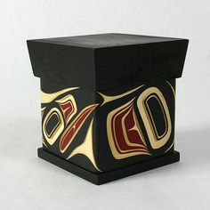 Raven, Red and Yellow Cedar Bentwood Box, James Michels, (NorthWest style) Métis/ Cree