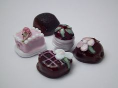 Dee's candies  lampwork valentine chocolate candy by DeniseAnnette