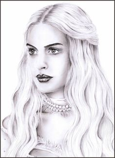 alice in wonderland white queen drawing - Google Search