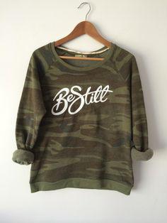 Women's Camo Logo Sweatshirt  Be Still clothing Co