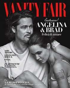 Angelina Jolie & Brad Pitt for Vanity Fair Italia November 2015 cover. Photographer Peter Lindbergh.