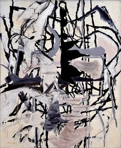 """Perle Fine, """"Early Morning Garden"""" (1957), oil paint and collage on canvas, 44 x 36 in, Collection Art Enterprises, Ltd, Chicago (image courtesy McCormick Gallery, Chicago, © AE Artworks, LLC)"""