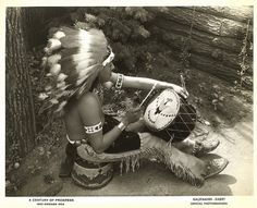 [Native American drumming at the Century of Progress Indian Village] by UIC Digital Collections, via Flickr