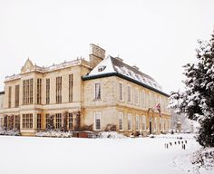 Dreaming of a White Christmas?  There's nowhere quite like Stapleford Park in the snow . . .  Find out more about Festivities at Stapleford Park - http://www.staplefordpark.com/christmas-and-new-year/
