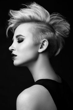 Blond color and short haircut. My work for Russian Hairdressing Awards 2016. Hair by Igor Funin. Foto by Dima Noskov