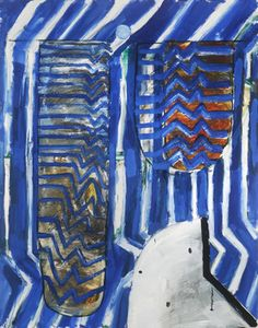 John Walker Raft, 2014 oil on canvas 84 x 66 inches/ Alexandre Gallery 724 Avenue, NY Cubist Paintings, Contemporary Paintings, Abstract Images, Abstract Art, Motif Zigzag, John Walker, Paris Painting, Georges Braque, Magazine Art