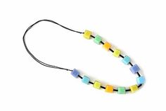 Colourful necklace VENECIA. Trendy jewelry. Multicolours. Jewlry from Spain. Designer jewelry