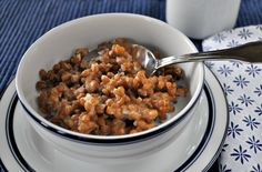 Slow Cooker Cracked Wheat  -- Shake up your breakfast routing and try this healthy Cracked Wheat recipe.  Overnight in a slow cooker and it's ready by morning!