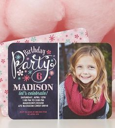Your little girl is turning a year older. Celebrate the good times with personalized birthday party invitations. | Tiny Prints