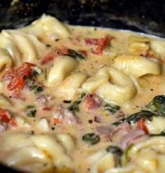 Recipe For  Crockpot Cheese Tortellini and Sausage Soup