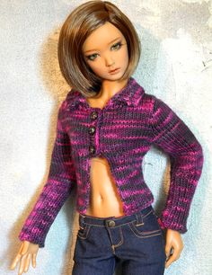 SD BJD sweater Drama Queen by SquirrelMoonKnits on Etsy